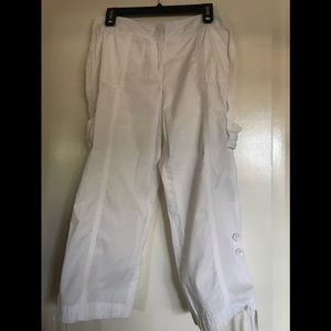 LARRY LEVINE SPORTS, size8,white pants 100%COTTON